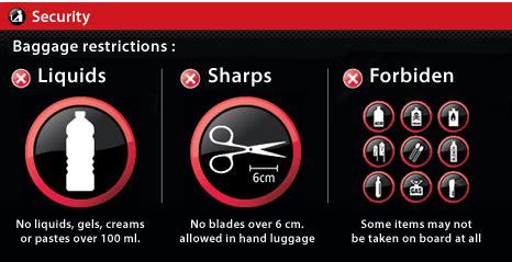 security, liquids, banned items paris cdg charles de