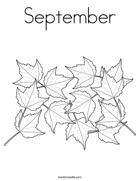 Coloring Pages For September september coloring page twisty noodle