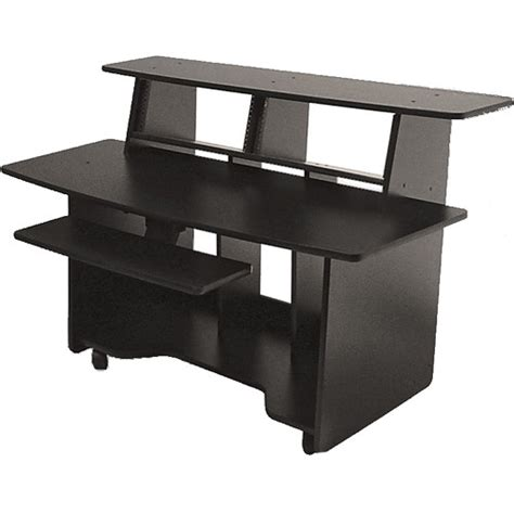 multi tiered computer desk omnirax presto multi purpose audio studio presto sc b h