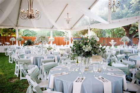 light blue and white wedding decorations light blue and white outdoor reception decor reception