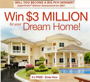 home sweepstakes pch 3 million home sweepstakes sweeps maniac