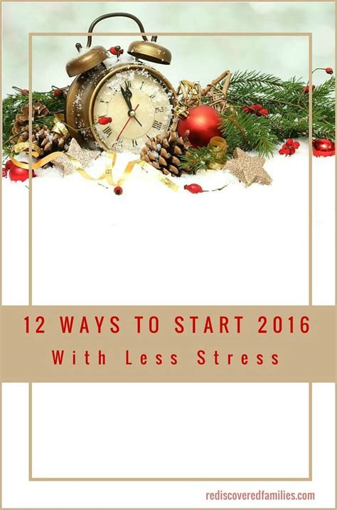 New Years Resolution Less Stress by 12 Effective Ways To Start The New Year With Less Stress
