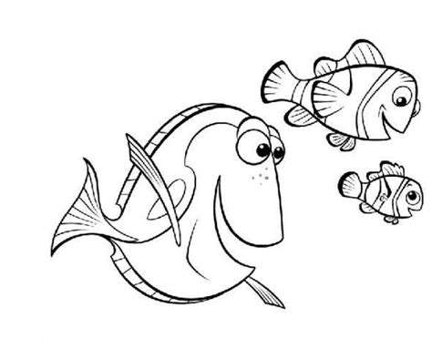 Finding Nemo Free Coloring Pages finding nemo coloring pages coloringpages1001