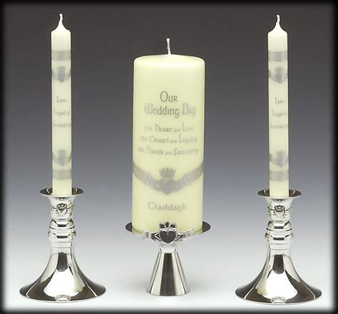 Unity Candle Holder Set by Wedding Accessories Unity Candle Holder Three