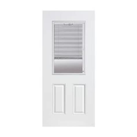 Exterior Door With Blinds Between Glass by Shop Reliabilt 174 36 Quot Right 2 Panel No Brick Mould Steel Entry Door Unit With Mini Blinds