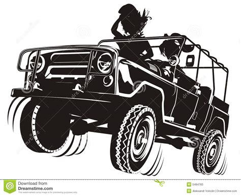 Vector Jeep Detailed Silhouette Stock Vector