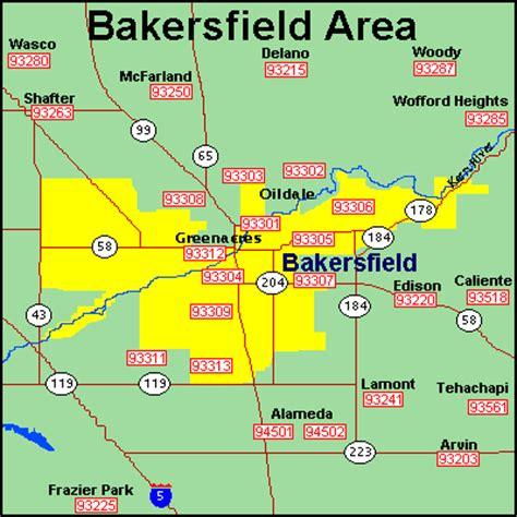 Zip Code Map Bakersfield Ca | bakersfield zip code map adriftskateshop