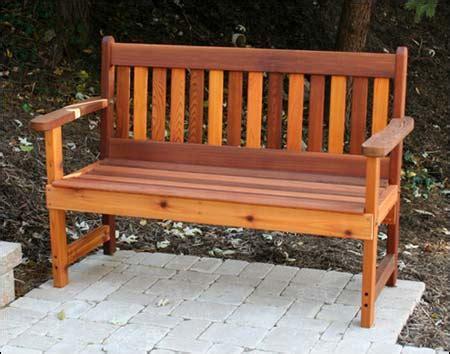 red cedar bench red cedar english garden bench