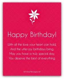 Happy birthday poems happy birthday messages