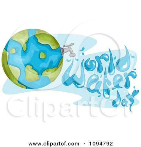 Spell Faucet by Clipart Globe With A Faucet And Water Spelling World Water