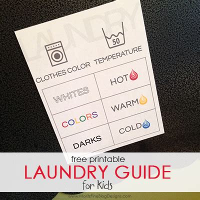 laundry design guide teach your kids how to do laundry free printable guide