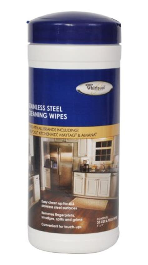 whirlpool  stainless steel cleaning wipes