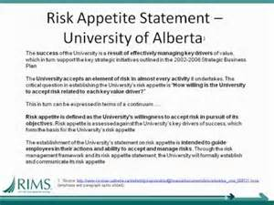 risk statement template erm toolbox february 2012 defining risk appetite
