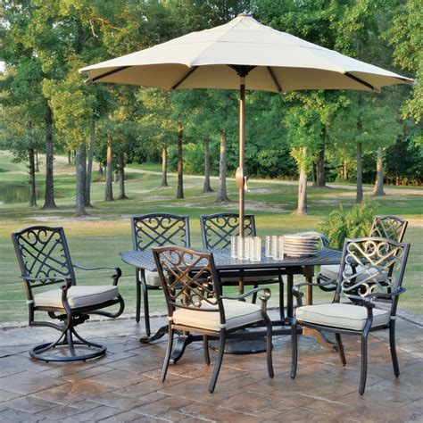 foremost casual harmony 9 piece patio dining set the