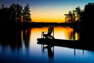 Muskoka Chair Sunset On Lake Oudaze Muskoka Chair Ontario Canada Flickr