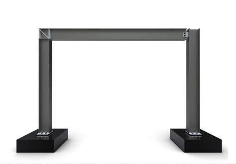 Pedestal Foundation Pinned Base Portal Frame Expedition Workshed