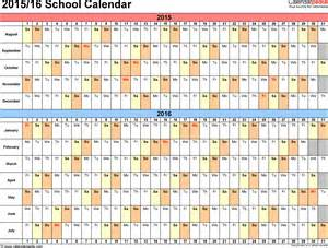 2015 16 Academic Calendar Template by School Calendars 2015 2016 As Free Printable Word Templates