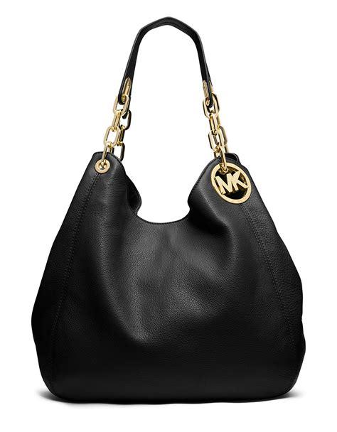 michael kors fulton large leather hobo shoulder bag