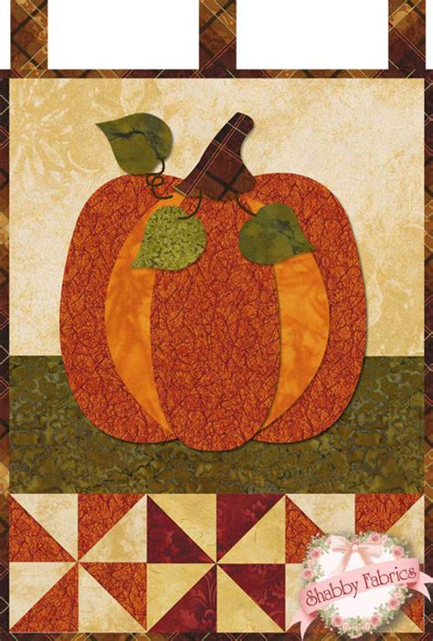 Patchwork Pumpkin - pumpkin patch blessings shabby fabrics quilting