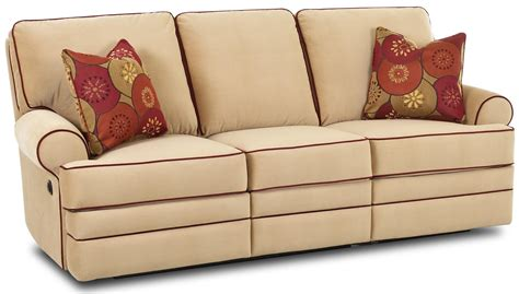 belleview power dual reclining sofa by klaussner wolf