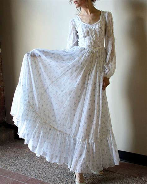 Cotton Wedding Dresses by 70s Gunne Sax Boho Wedding Dress Fall Hippie Wedding