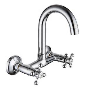 Kitchen Faucets Uk Handle Swivel Spout Kitchen Faucet Chrome Wall Mount Mixer Water Tap 0717 Ebay
