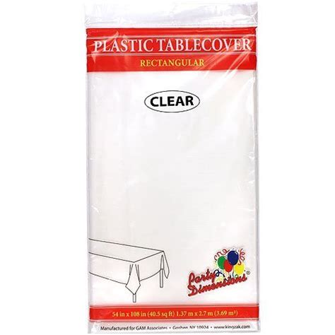 amazon plastic table cloths amazon com clear plastic tablecloth 4 pack