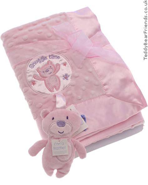teddy bear comfort blanket pink comfort blanket baby gund teddy bear friends