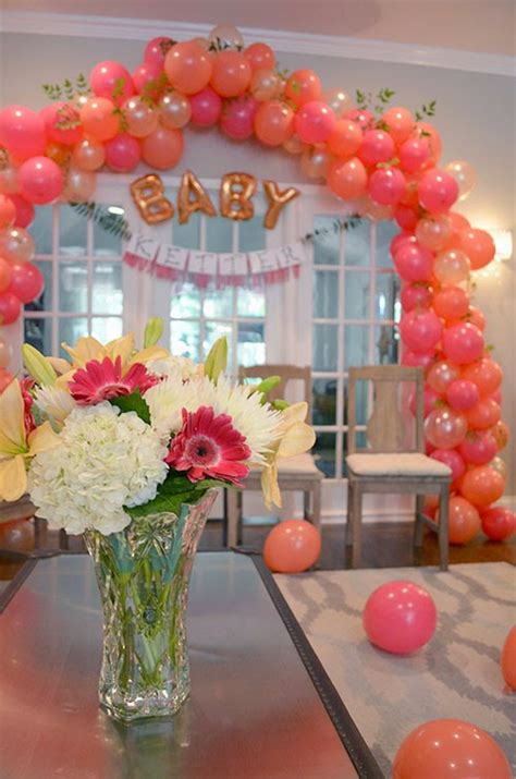 Baby Shower Balloon Arch by The Happy Homebodies Ideas