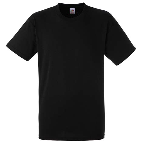 T Shirt Ibanez Black fruit of the loom plain black t shirt 100 cotton