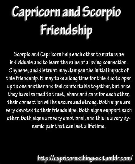 scorpio capricorn friendship zodiac pinterest