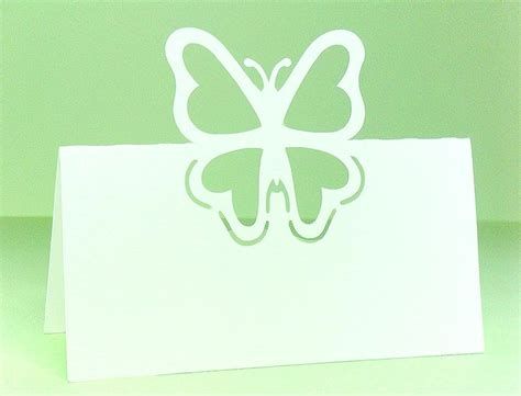 Butterfly Place Cards Template by 19 Best Images About Marque Place On Vintage