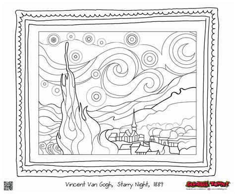 starry night coloring book page the starry night coloring page coloring home