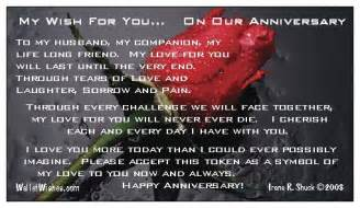 Anniversary wallet wishes