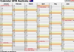 Calendar For Year 2018 Australia Australia Calendar 2018 Free Word Calendar Templates