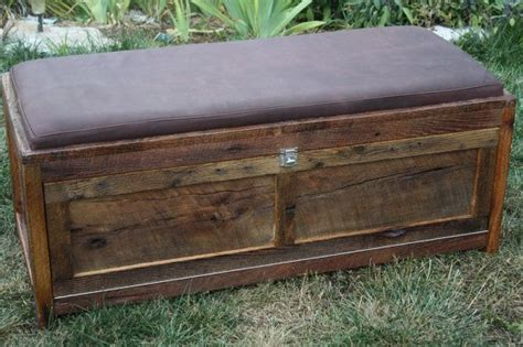 wood chest bench your customized reclaimed barn wood upholstered storage