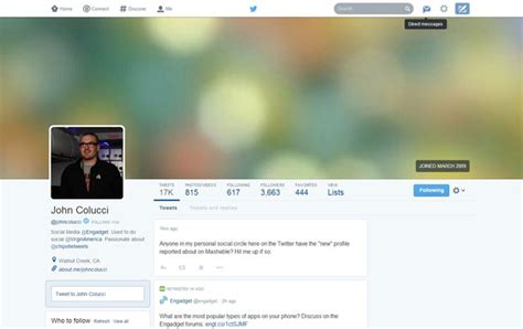 twitter layout tester twitter testing new facebook style layout clicky media