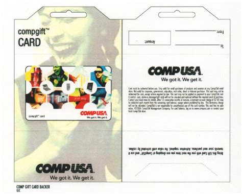 Compusa Gift Card - compusa inserts gift cards layout graphics on behance