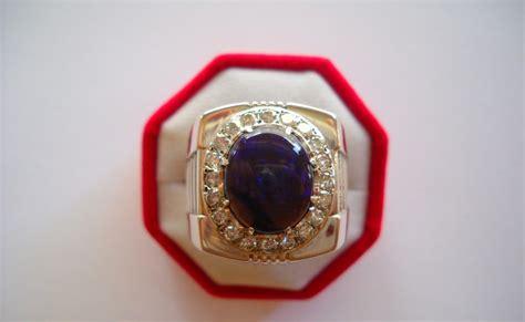 Cincin Perak Mutiara Lombok No 30 nazman enterprise koleksi cincin perak lelaki bertatahkan batu opal
