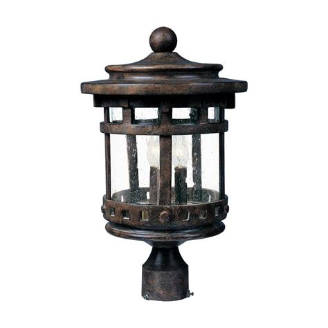 sienna patio and garden lights maxim lighting santa barbara dc 3 light sienna outdoor
