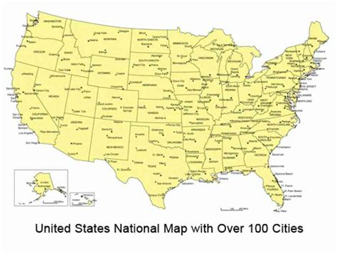 printable us map with cities and towns map of the states and cities holidaymapq com