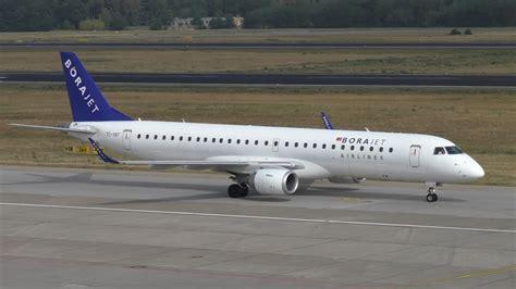 Bor Jet borajet embraer erj 195ar tc yat landing up taxiing at berlin tegel airport