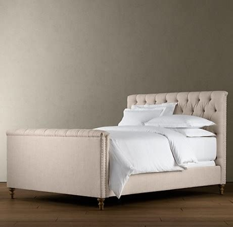 restoration hardware upholstered bed chesterfield upholstered panel bed beds restoration