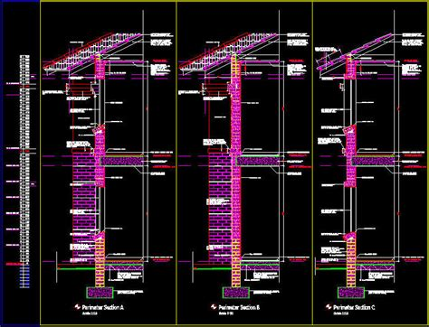 section dwg cad details masonry detail sections two storey with
