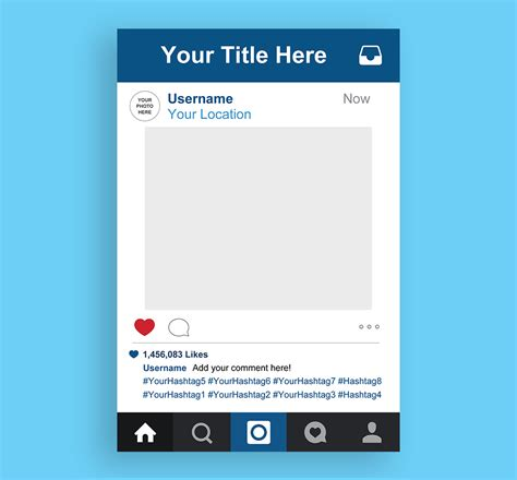 instagram frame template instagram frame high quality printable instagram photo