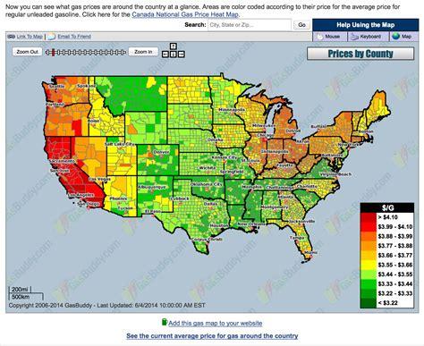 gas price map usa gasbuddy usa map
