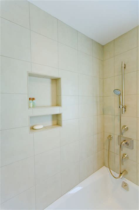 shower over bathtub los altos bathroom remodel shower over tub tile niche