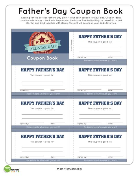 voucher booklet template coupon book template
