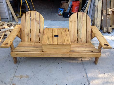 bench with table in middle garden bench with table in middle luxury pallet wood