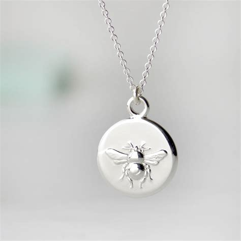 personalised sterling silver busy bee necklace by tales